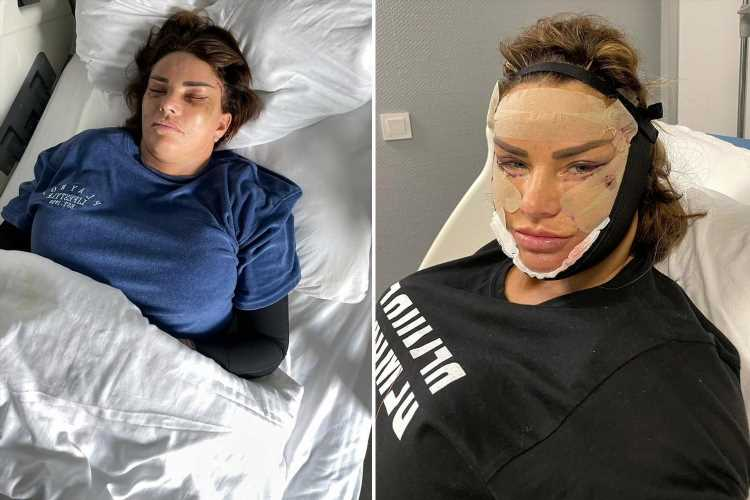 Katie Price admits waking up thinking 'what the f**k have I done?' after seeing bruised face after surgery in Turkey
