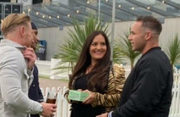 Katie Price's exes Kieran Hayler and Kris Boyson spotted 'getting on so well'