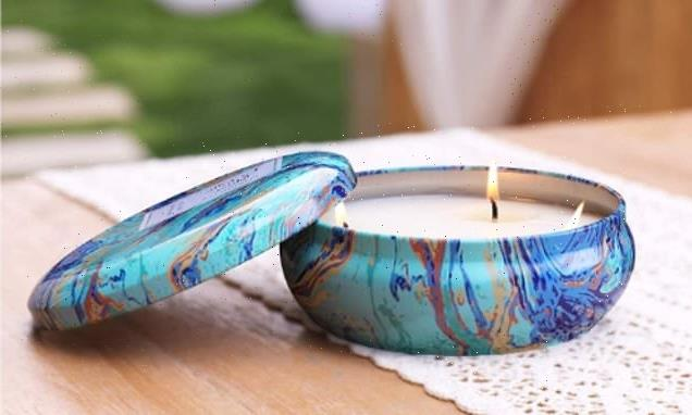 Keep you al fresco meals bug free with this stylish citronella candle