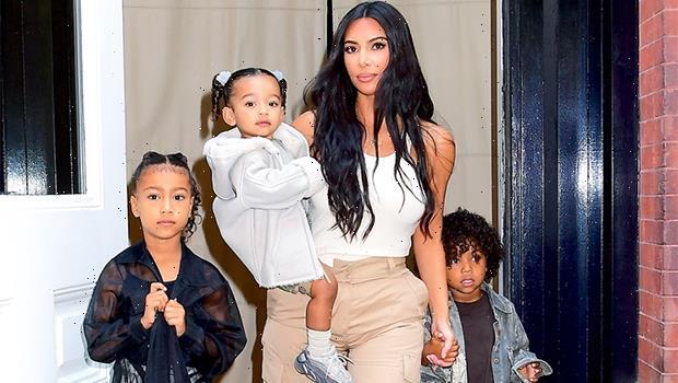 Kim Kardashian & 4 Kids Support Kanye West At 'Donda' Listening Party Amid Split