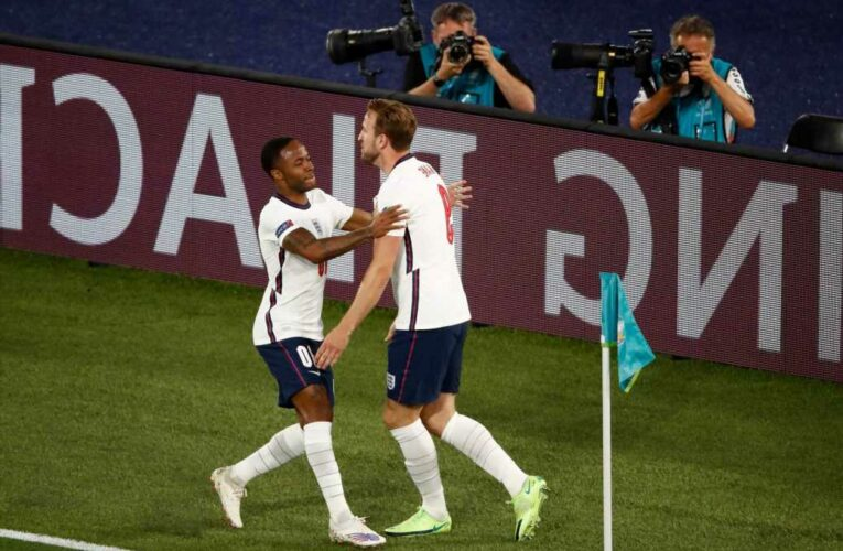Man City fans dreaming of Harry Kane transfer to link up with Raheem Sterling after brilliant England goal vs Ukraine