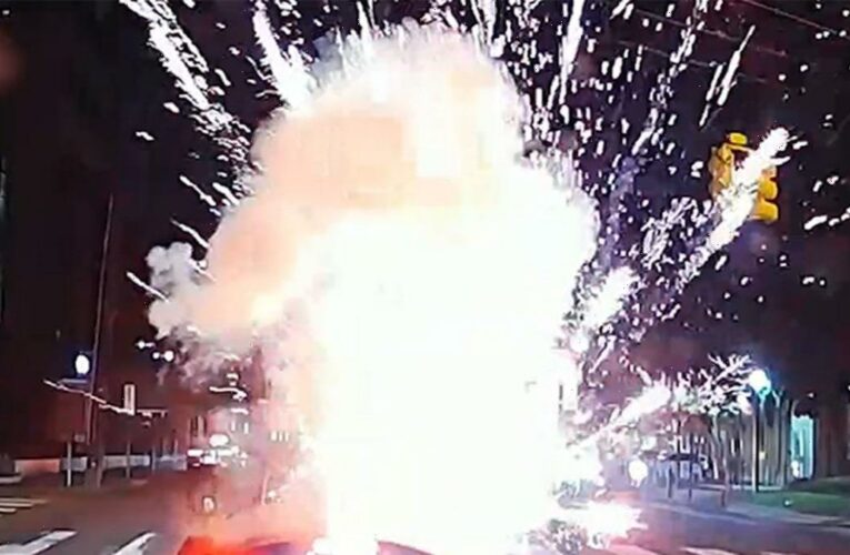 Man in Convertible Miraculously Survives Exploded Firework Thrown in Car