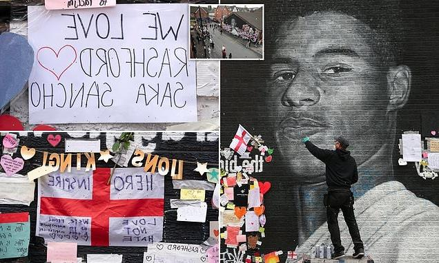 Mural of Marcus Rashford is repaired after being defaced