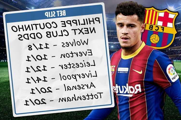 Philippe Coutinho next club odds – Everton, Liverpool & Arsenal trail Wolves for Barcelona star, Tottenham in the mix