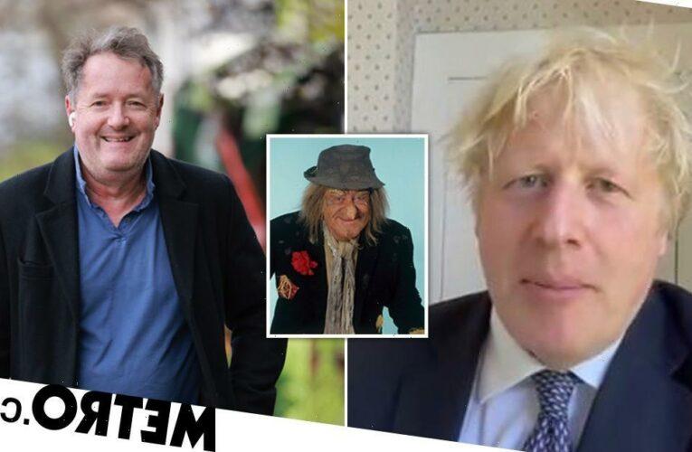 Piers Morgan compares Boris Johnson to scarecrow Worzel Gummidge