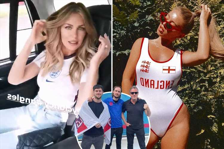 Piers Morgan leads England battle cry as stars including Abbey Clancy and Tyne-Lexy dress up for Denmark Euro 2020 clash