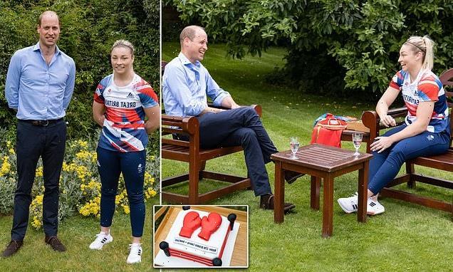 Prince William meets Team GB boxer Lauren Price ahead of Olympics