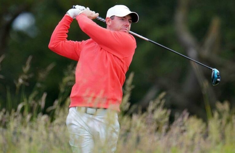 Spectator takes swing of McIlroy's club at Scottish Open