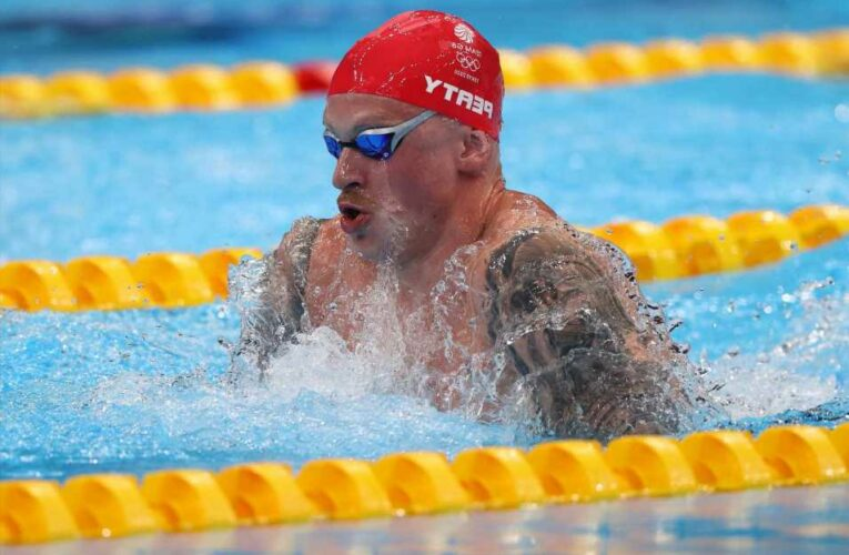 Team GB record-breaker Adam Peaty into 100m breaststroke final in fastest time with James Wilby joining him