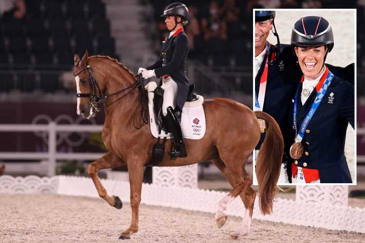 Team GB win bronze in Tokyo 2020 dressage as Charlotte Dujardin becomes Britain's joint-most decorated female Olympian