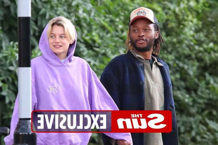 The Crown star Emma Corrin grows close to hunky artist Ibby Njoya
