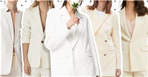 The coolest, most comfortable white trouser suits for modern brides