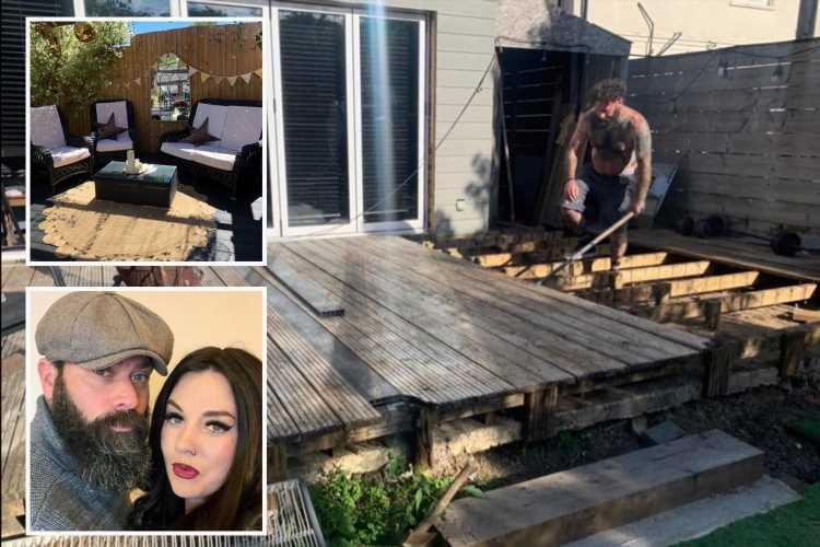 Thrifty couple turn their rotten decking into a dream pergola and it's all thanks to £3.99 eBay bargains