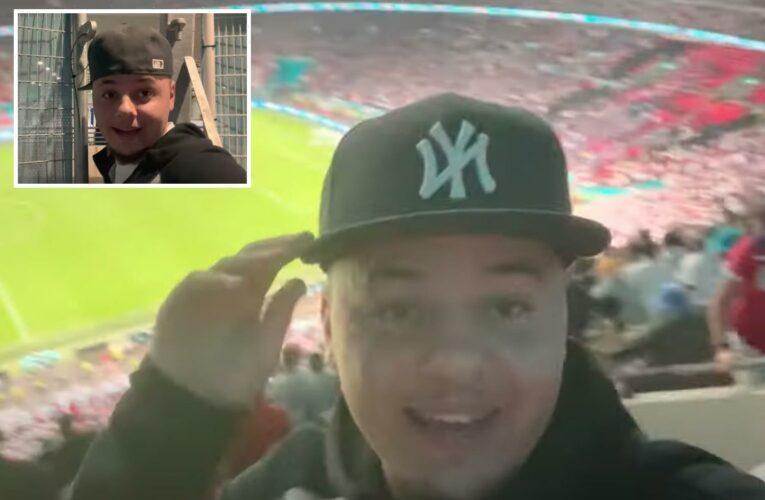 TikToker J2hundred, 19, films himself 'sneaking' into Wembley to watch Euros final after finding 'gap' in exit door