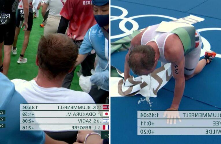 Tokyo 2020: Triathlon gold medallist Kristian Blummenfelt put in WHEELCHAIR after collapsing sick at the finish line