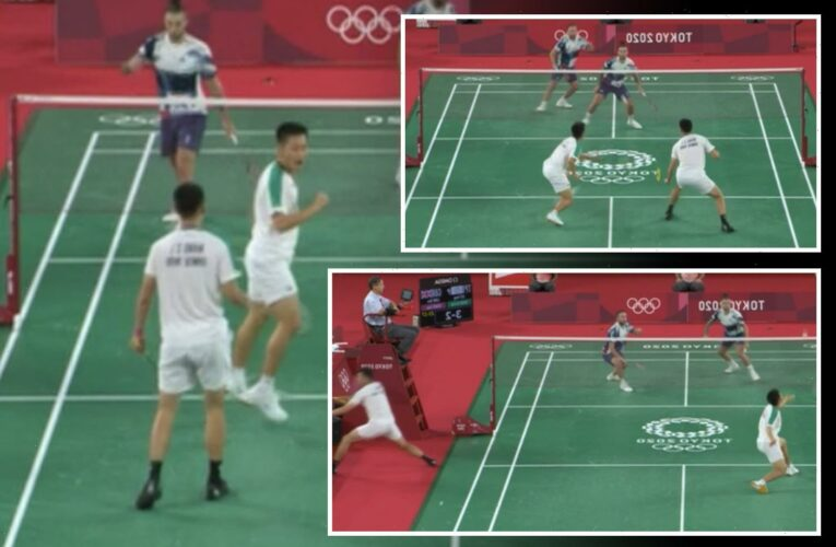 Tokyo 2020: Watch as badminton star runs off court mid-match to change racket against Team GB… and WINS point