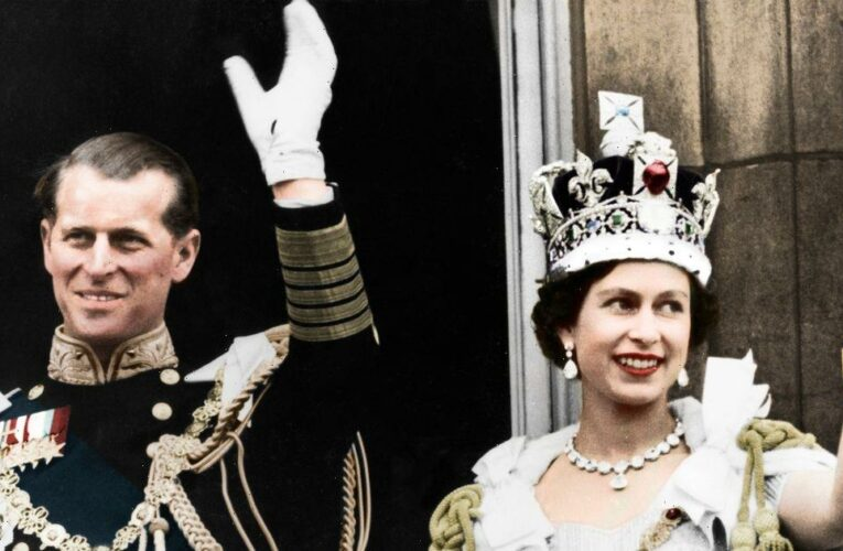 Treasures from the Queen and Prince Philip's wedding including sweet breakfast menu