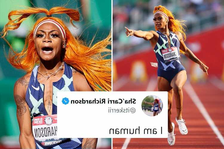 US runner Sha'Carri Richardson FAILS drug test & says 'I am human' as 'fastest woman in America' faces missing Olympics
