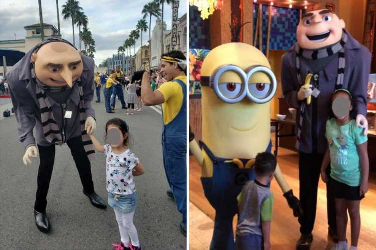 Universal Orlando sued for $30K after pic showed actor 'flashing white supremacist sign with two young girls'