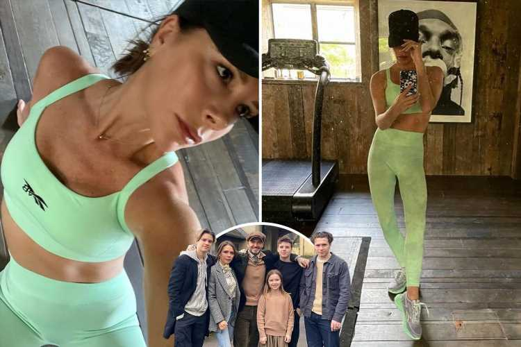 Victoria Beckham shares rare glimpse inside private gym at £6m Cotswolds home as she flashes super toned abs in gym gear