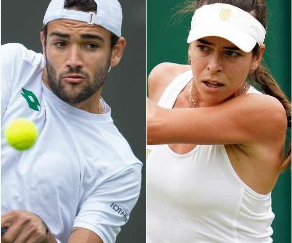 Wimbledon: Matteo Berrettini less stressed playing than watching partner Ajla Tomljanovic