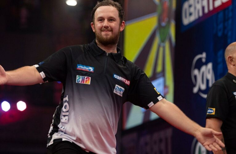 World Matchplay 2021: Callan Rydz is into the last eight on his debut in Blackpool