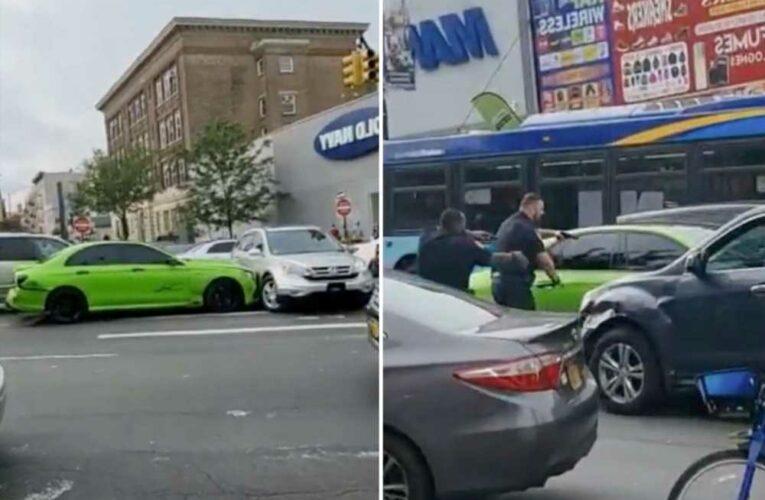 14 injured, seven cars hit as man flees police on sidewalk in NYC