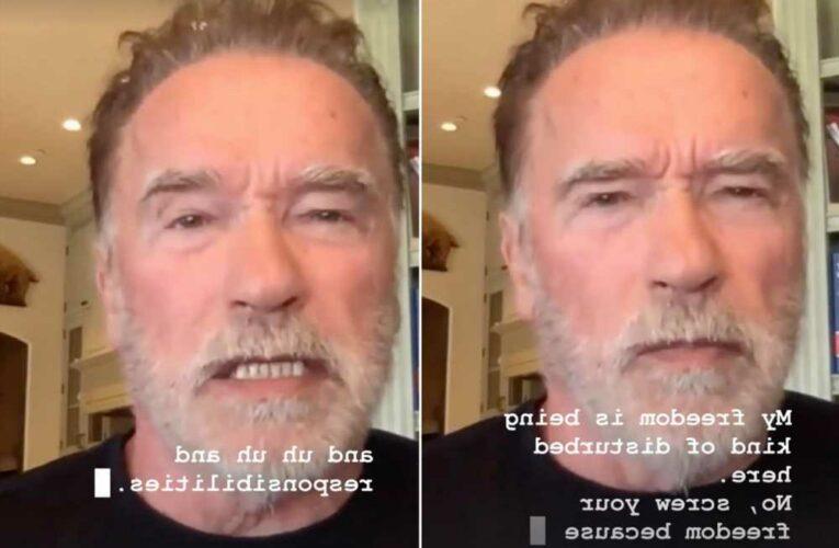 Arnold Schwarzenegger rips  anti-maskers: Screw your freedom