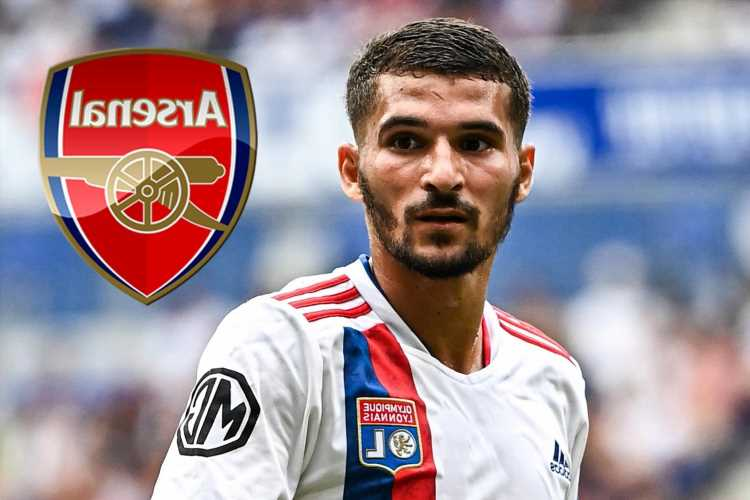 Arsenal target Houssem Aouar offered for loan-to-buy transfer as desperate Lyon receive no bids for midfielder