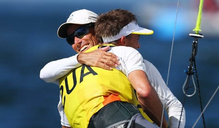 Australian sailors end with an exclamation mark as they ease to Olympic gold
