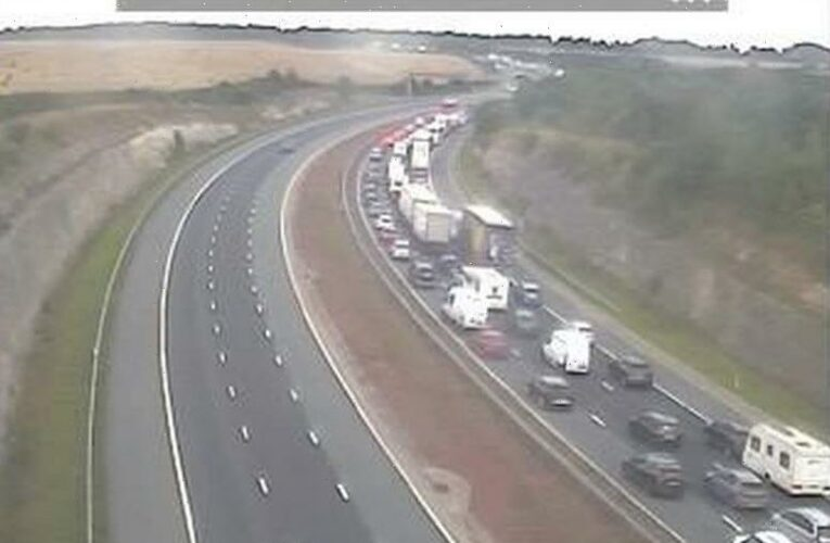 Bank Holiday travel chaos with hour-long Leeds Festival queues as 18.4million cars hit the road in 'perfect storm'