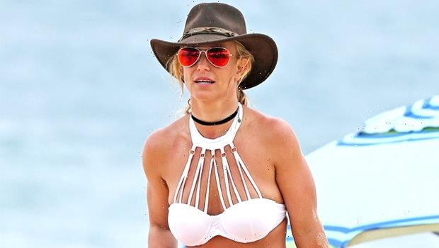 Britney Spears Rocks a Red Bikini & Addresses The Drama Of The Conservatorship In New Video
