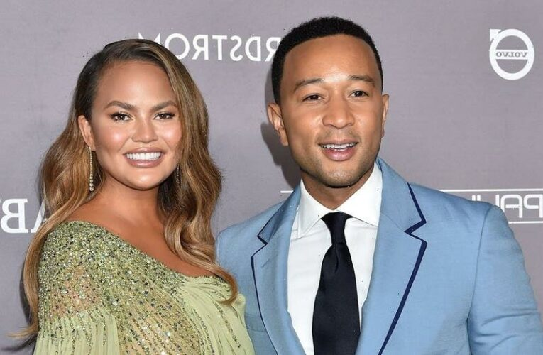 Chrissy Teigen shows off her party look ahead of attending Barack Obama's 60th birthday party