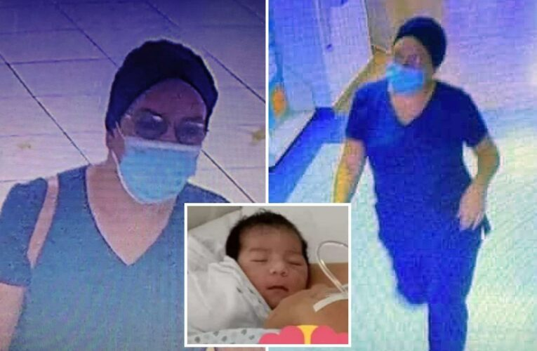 Cops hunt woman who dressed as nurse to steal newborn from mum's arms and fled