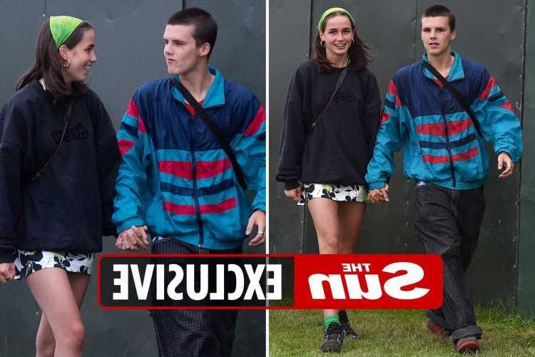 Cruz Beckham, 16, goes public with girlfriend Bliss Chapman at Reading Festival