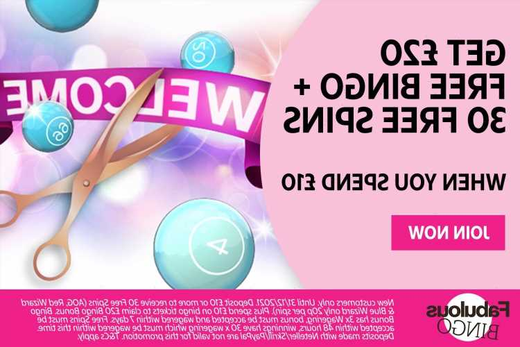 Fabulous Bingo: Get £20 and 30 free spins when you spend £10