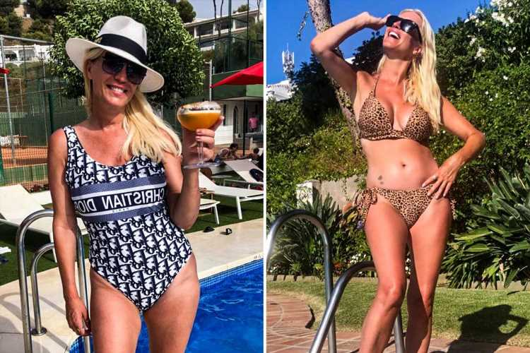 Gogglebox star Denise Van Outen, 47, shows off her incredible bikini body on holiday in Marbella