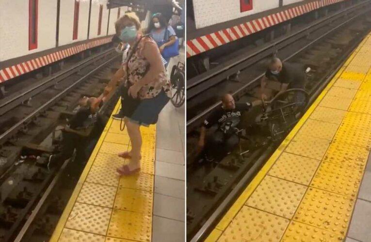 Good Samaritan rescues man in wheelchair from NYC subway tracks