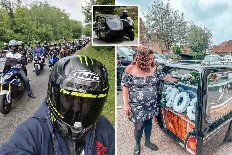 Hundreds of bikers turn out for funeral of popular mechanic who died aged 23 after complications during surgery