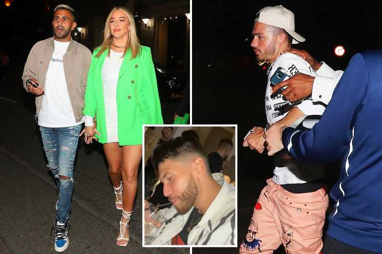 Jack Grealish hangs out with Love Island star Jack Fowler as he and Man City ace Mahrez attend fashion launch