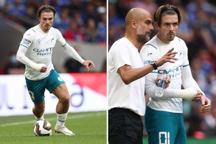 Jack Grealish makes Man City debut after £100million British record move but loses in Community Shield
