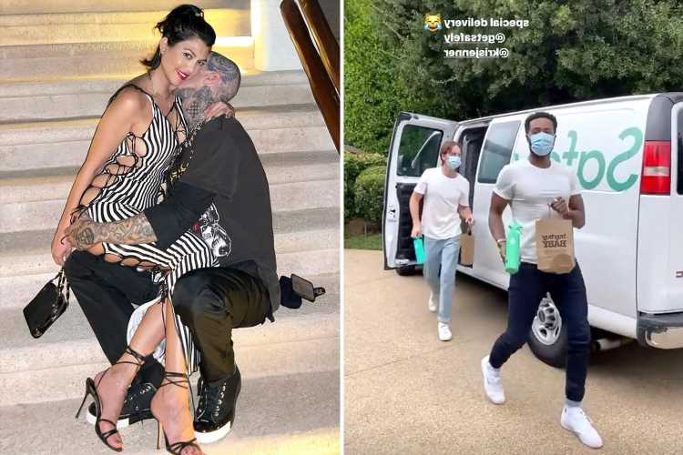 Kourtney Kardashian gets delivery from Buy Buy Baby as fans think she's pregnant with Travis Barker's child