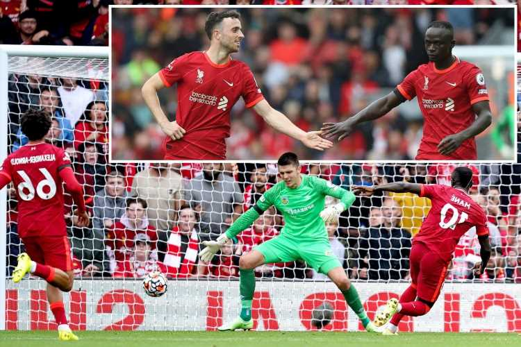 Liverpool 2 Burnley 0: Diego Jota and Sadio Mane fire Reds to second straight win in bid to regain Premier League title