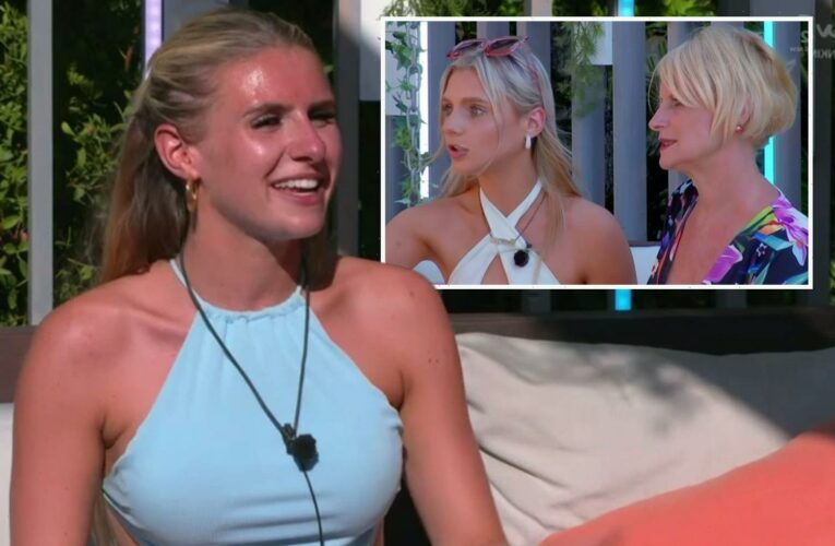 Love Island's Chloe flushes bright red as lookalike sister awkwardly confronts her on high sex drive