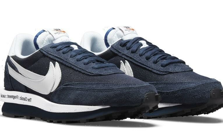 """Official Images of the sacai x fragment design x Nike LDWaffle """"Blue Void"""""""