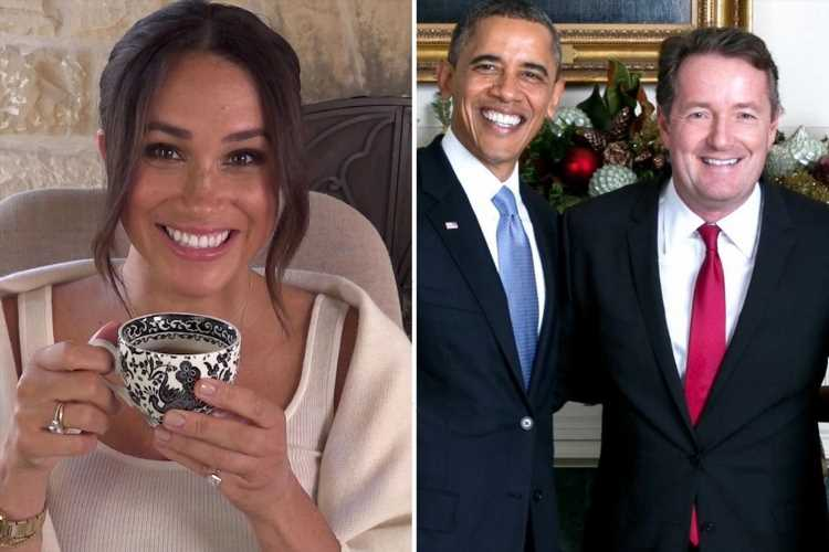 Piers Morgan sends Obama a birthday message – but snubs nemesis Meghan Markle on her 40th