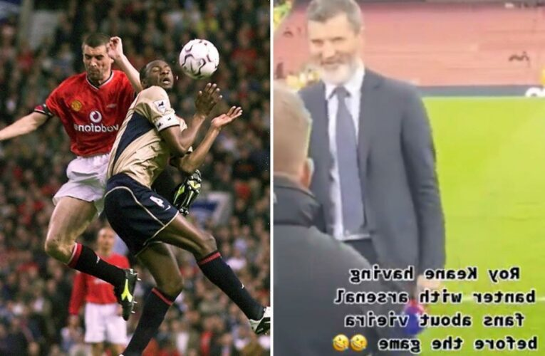 Roy Keane hilariously responds to Arsenal fan's wind-up attempts with jibe at Gunners legend Patrick Vieira
