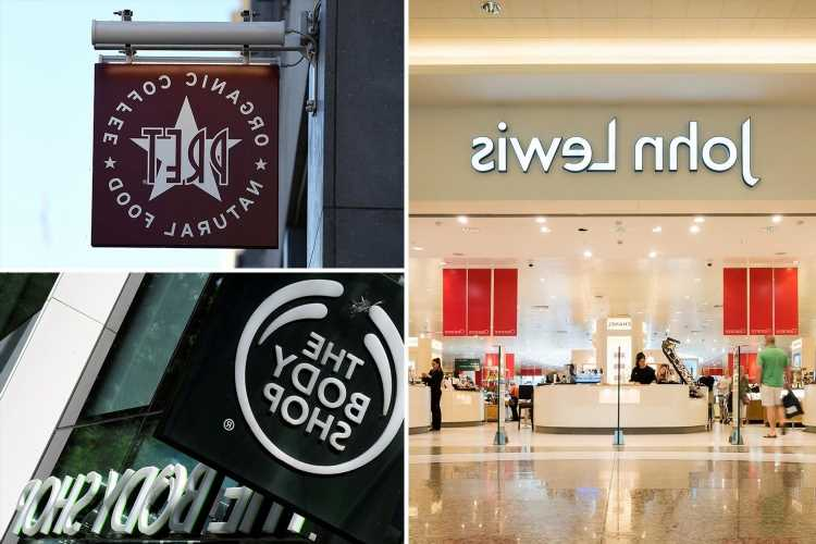 The 191 companies named and shamed for not paying minimum wage including Pret, The Body Shop and John Lewis