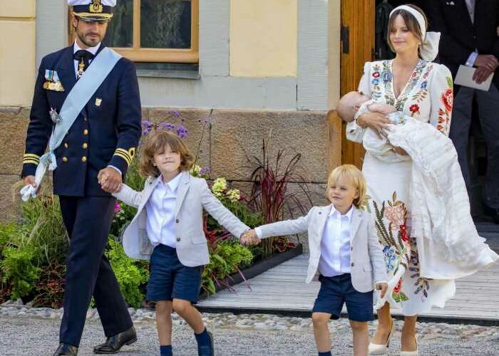 The Swedish royals gathered over the weekend to baptize Prince Julian