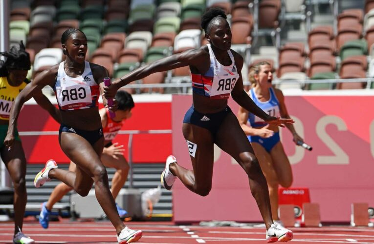 Tokyo 2020: Dina Asher-Smith returns for 4x100m relay after injury as GB set new British record in brilliant run